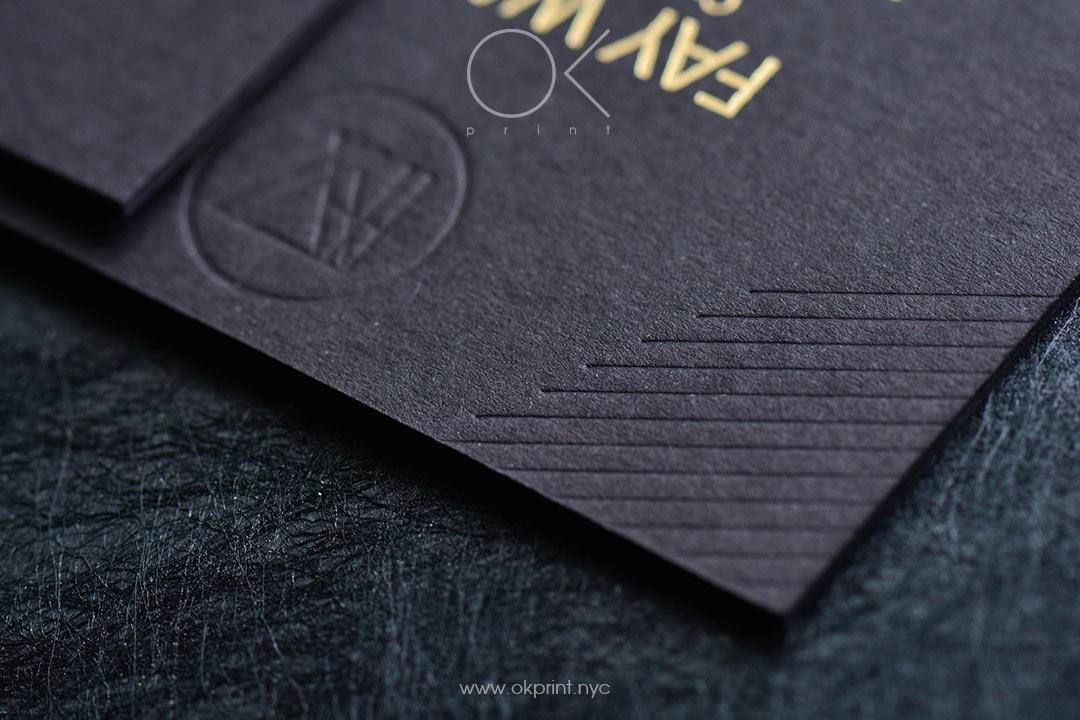 Debossed business cards okprint new york luxury debossed colourmoves
