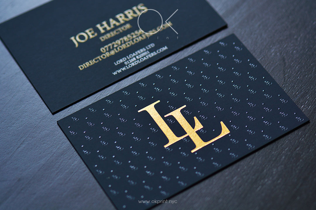 "LUXURY BUSINESS CARDS FOR SHOE BRAND ""LORD LOAFERS"""