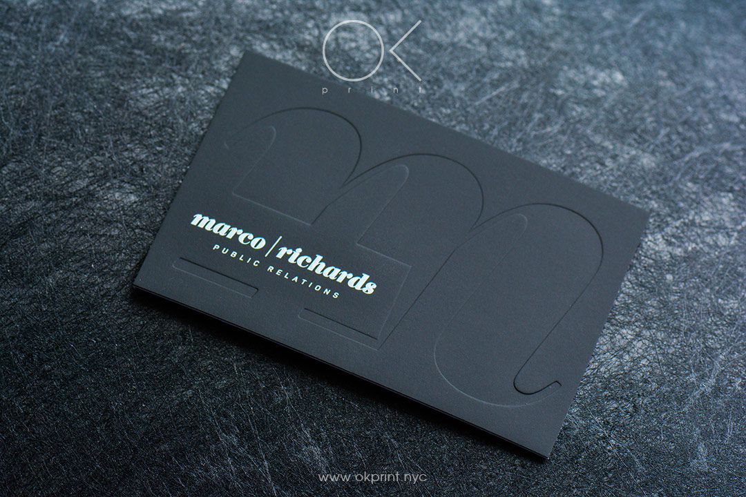 DEBOSSED BUSINESS CARDS | OKPRINT, NEW YORK