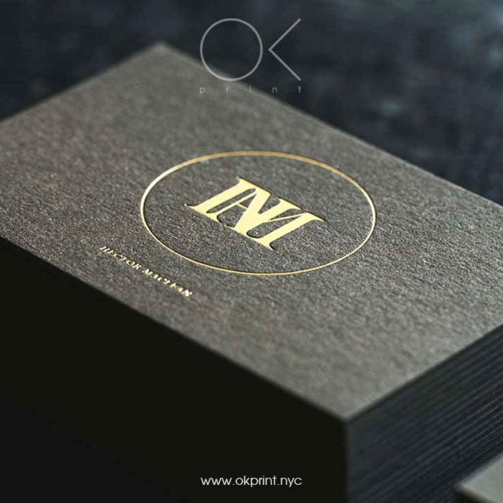 FOILED BUSINESS CARDS | OKPRINT, NEW YORK