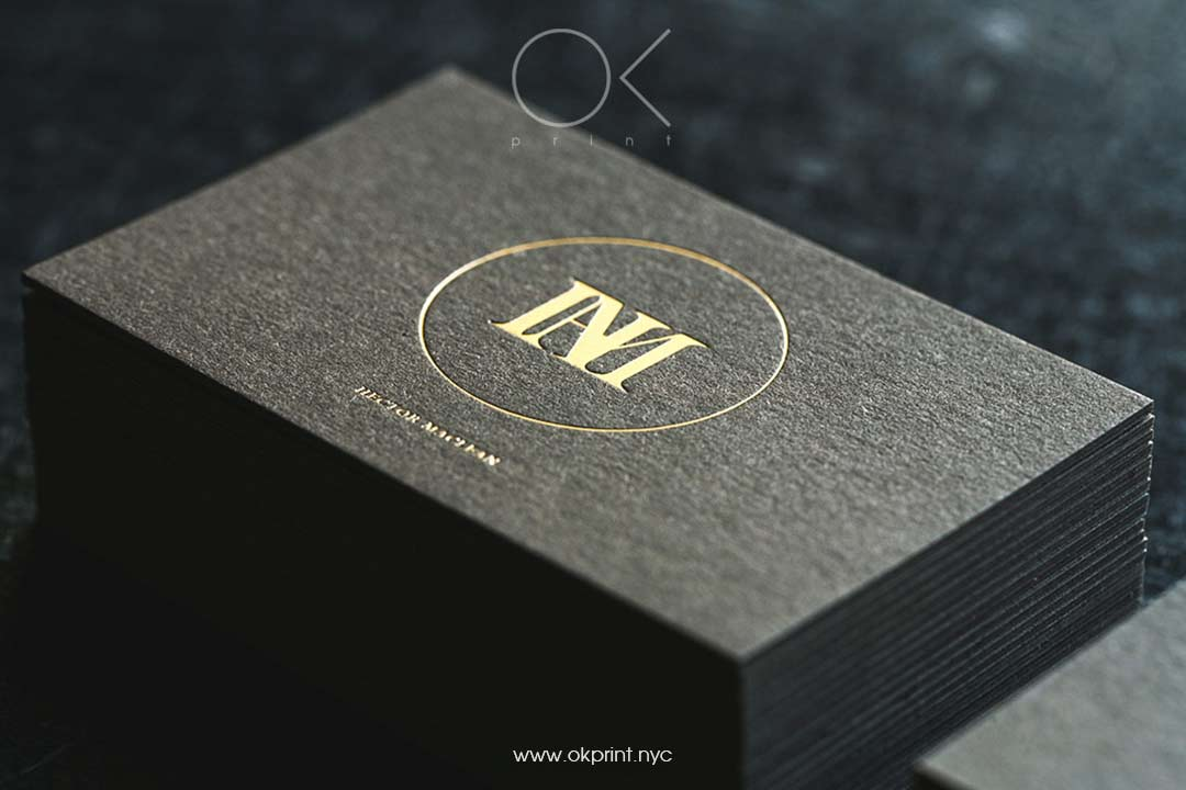 LUXURY BUSINESS CARD WITH FOILING – HECTOR MACLEAN