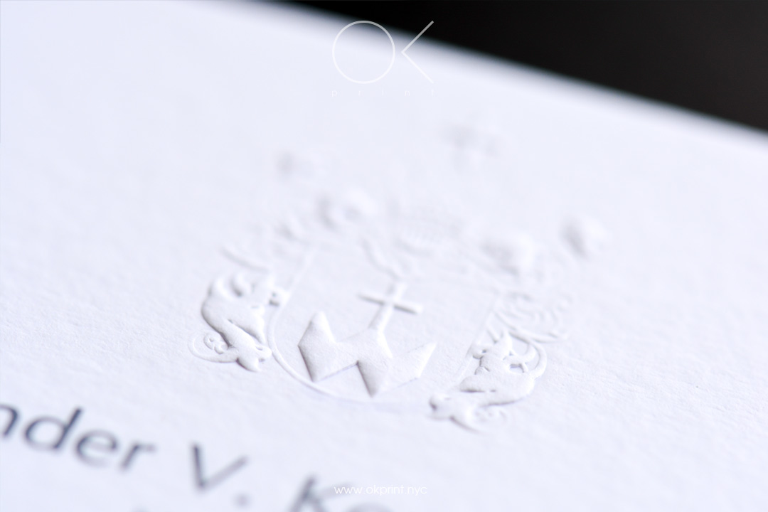 EMBOSSED BUSINESS CARDS | OKPRINT, NEW YORK