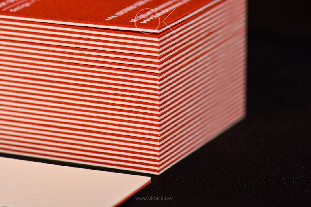 Letterpress Business Cards for Graphic Designer