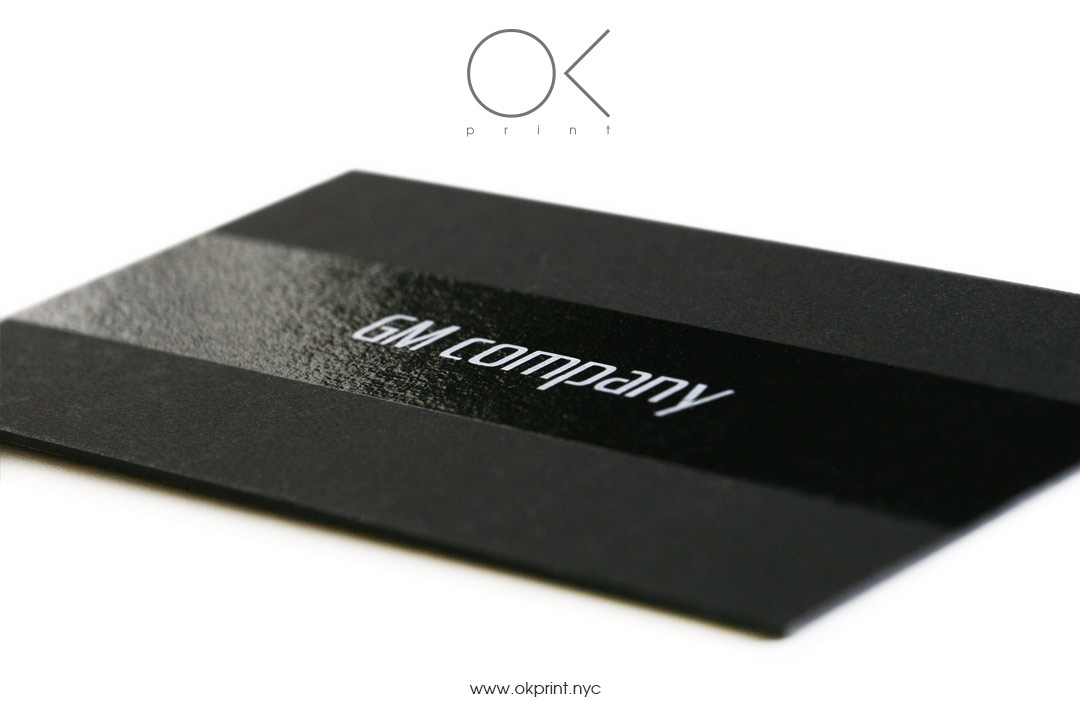 Screenprinting Business Cards on Black Paper