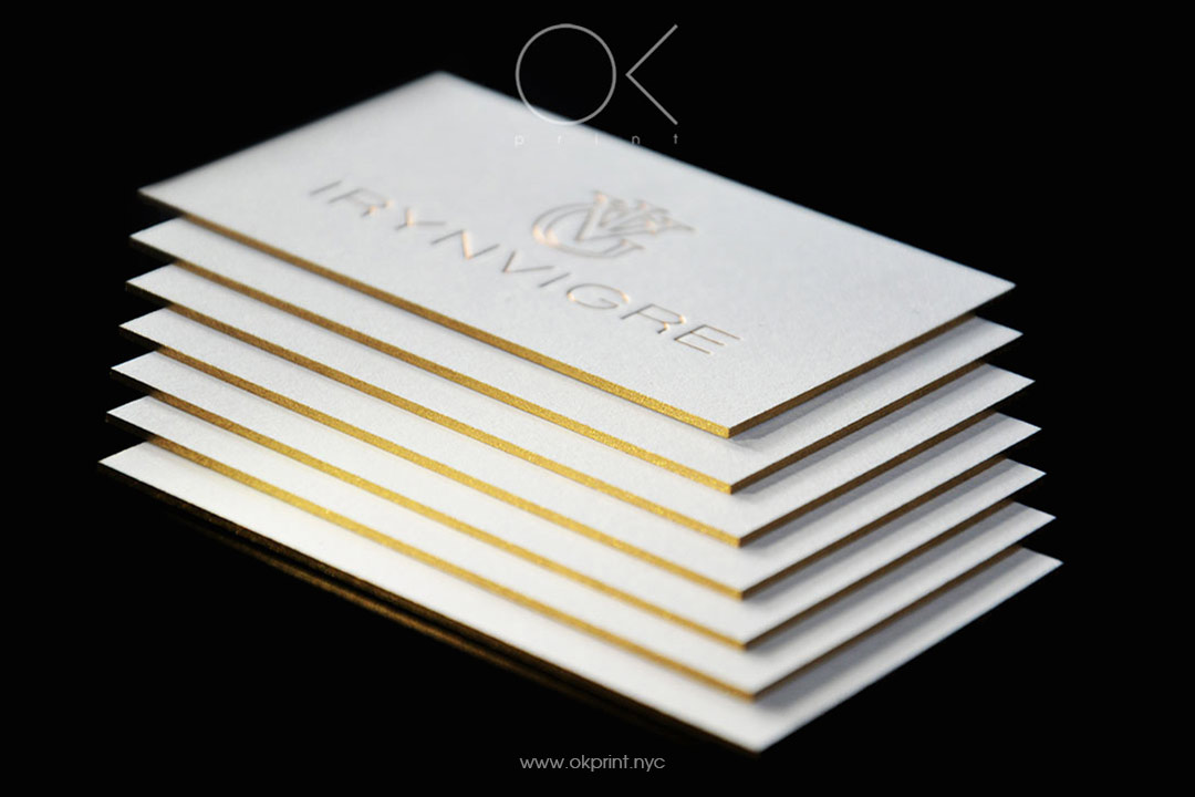 Golden Edge Gilded Business Card