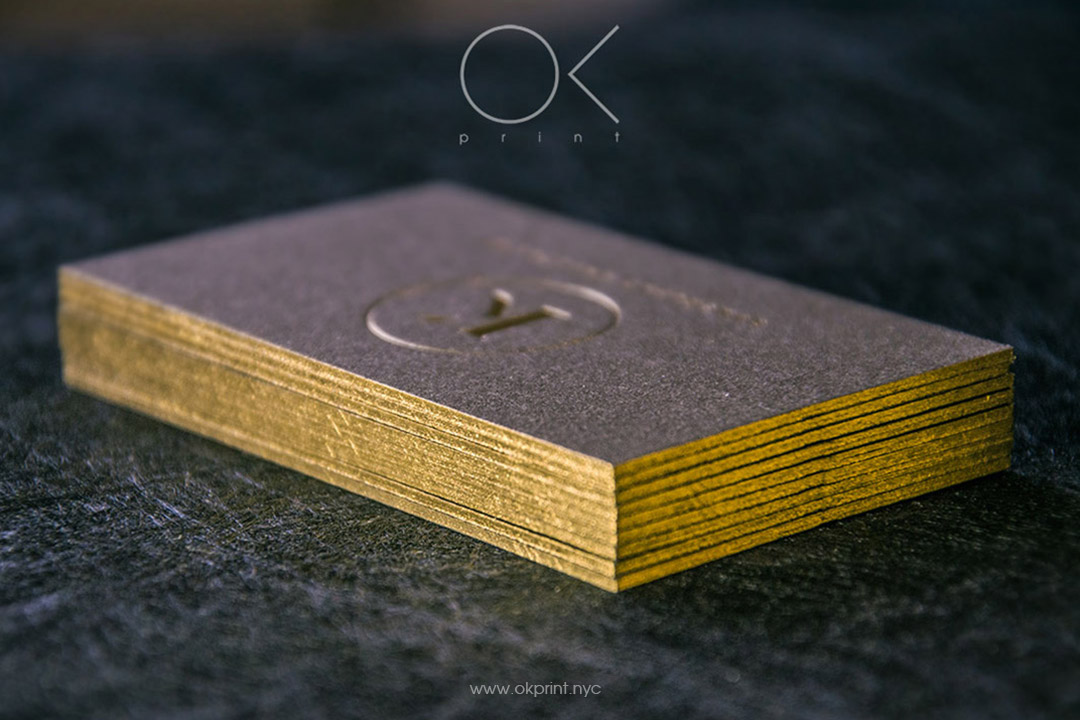 Golden Golden Edge Gilded Business Card