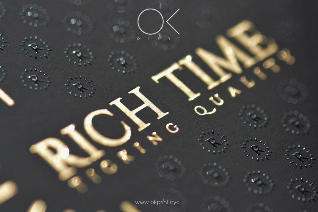luxury business cards with gold foiling and thermography - Thermography Business Cards