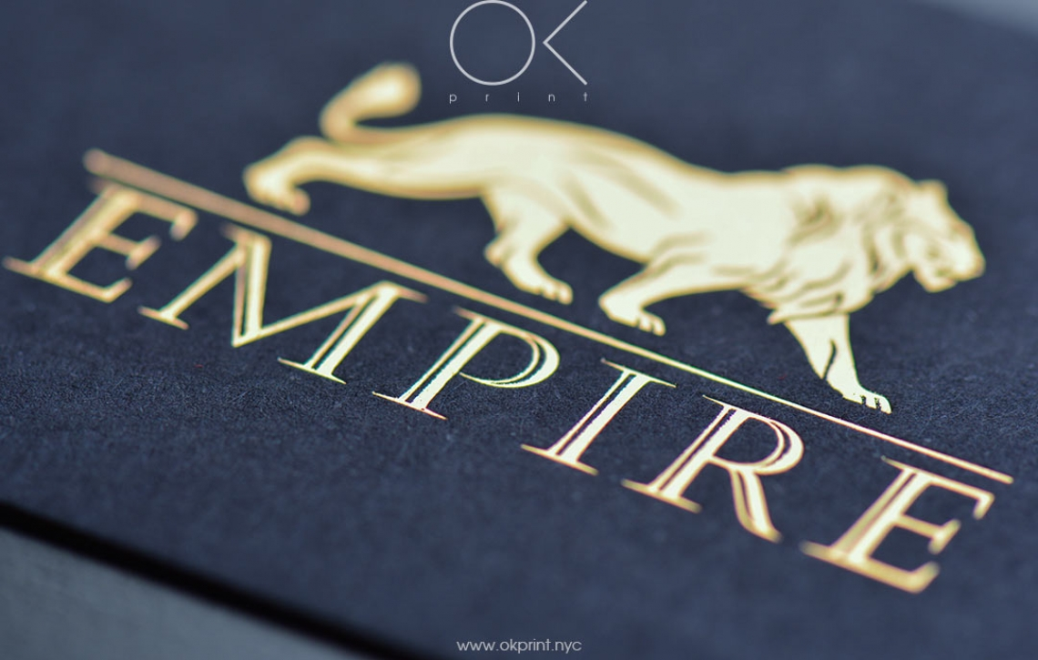 "LUXURY FOILED BUSINESS CARDS FOR ""EMPIRE"" – OKPRINT, NEW YORK"
