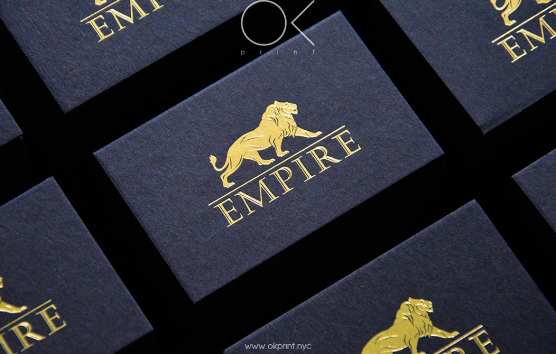 """LUXURY FOILED BUSINESS CARDS FOR """"EMPIRE"""" – OKPRINT, NEW YORK"""