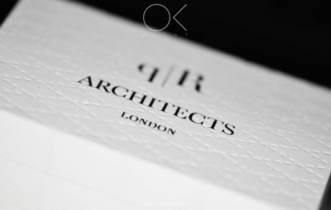 LUXURY DEBOSSED BUSINESS CARDS FOR ARCHITECTS COMPANY – OKPRINT, NEW ...