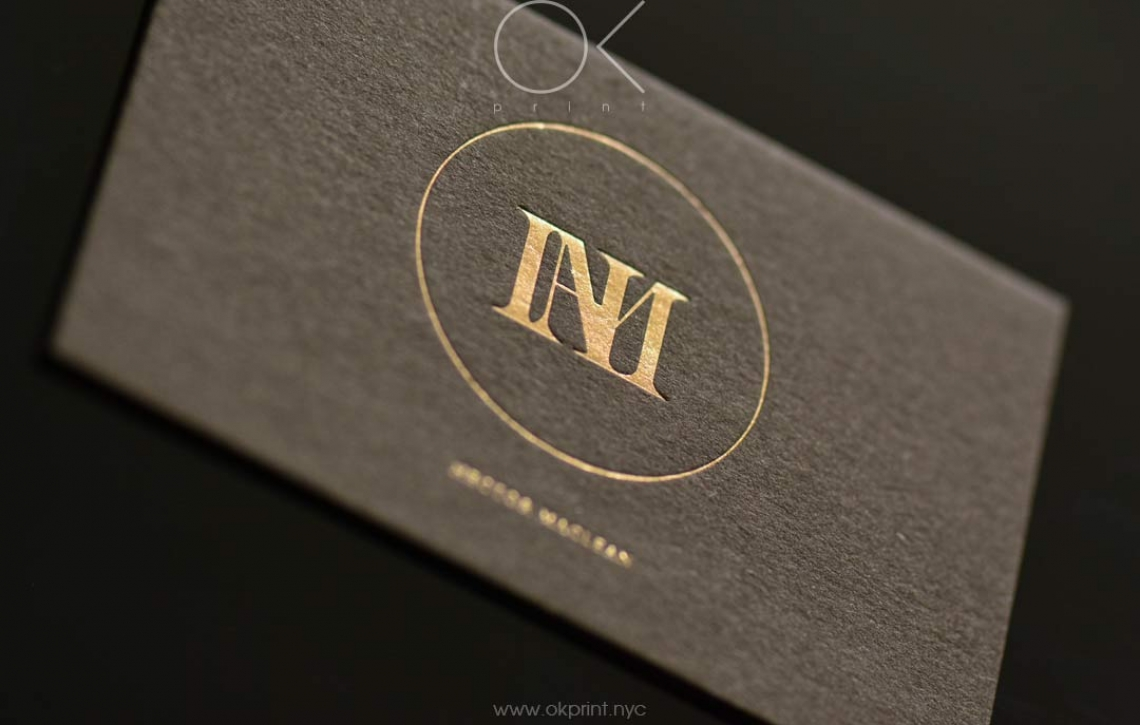 Luxury business card with foiling hector maclean okprint new york luxury business cards with gold foil for designer magicingreecefo Images